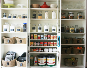 view of an organised pantry