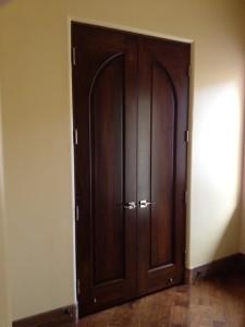 stained door